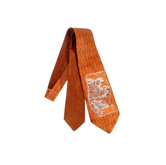 Vintage 40s Tie - 40s Wide Tie - Wide Satin Tie -
