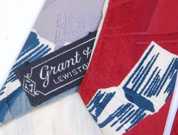 Vintage 40s Tie - 40s Necktie - 40s Cravat - Wide… - image 5