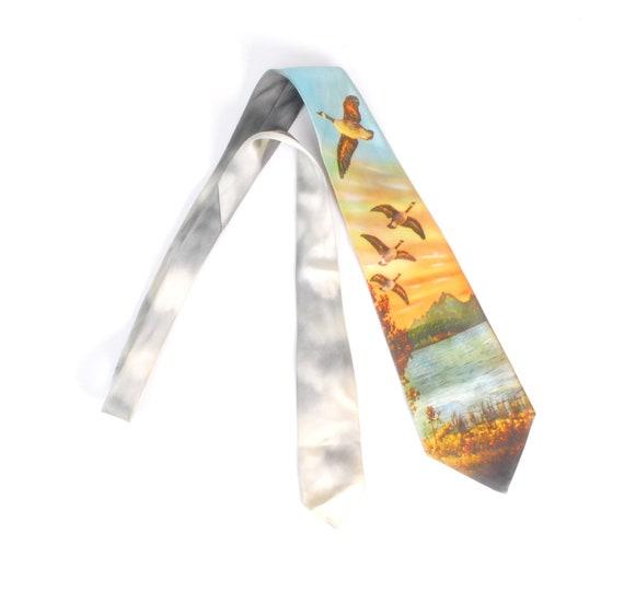 Vintage 40s Tie - 40s Photo Tie - 40s Wide Tie - 4