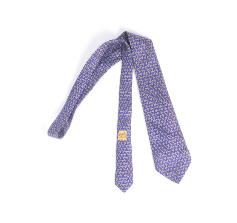 1dd9c1dc9 Vintage 80s Tie - 80s Hermes Tie - Vintage Hermes Tie - Hermes Silk Tie -  Hermes Rope Knot Triangle - 7453 HA - 80s Purple Silk Necktie