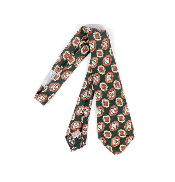 Vintage 50s Tie - 50s Necktie - 50s Paisley Tie -