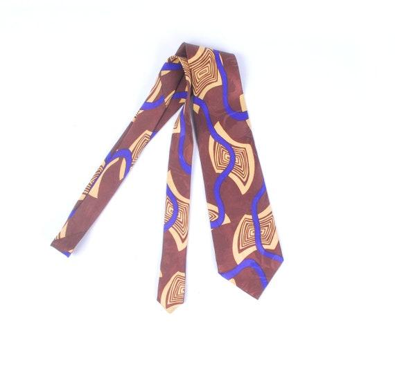 Vintage 50s Necktie - 50s Silk Necktie - 50s Moder
