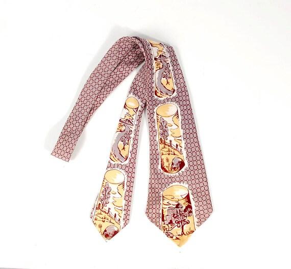 Vintage 40s Tie - 40s Wide Tie - 40s Novelty Tie -