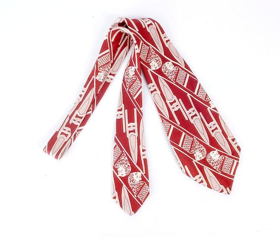 Vintage 40s Tie - 40s Necktie - 40s Cravat - Wide