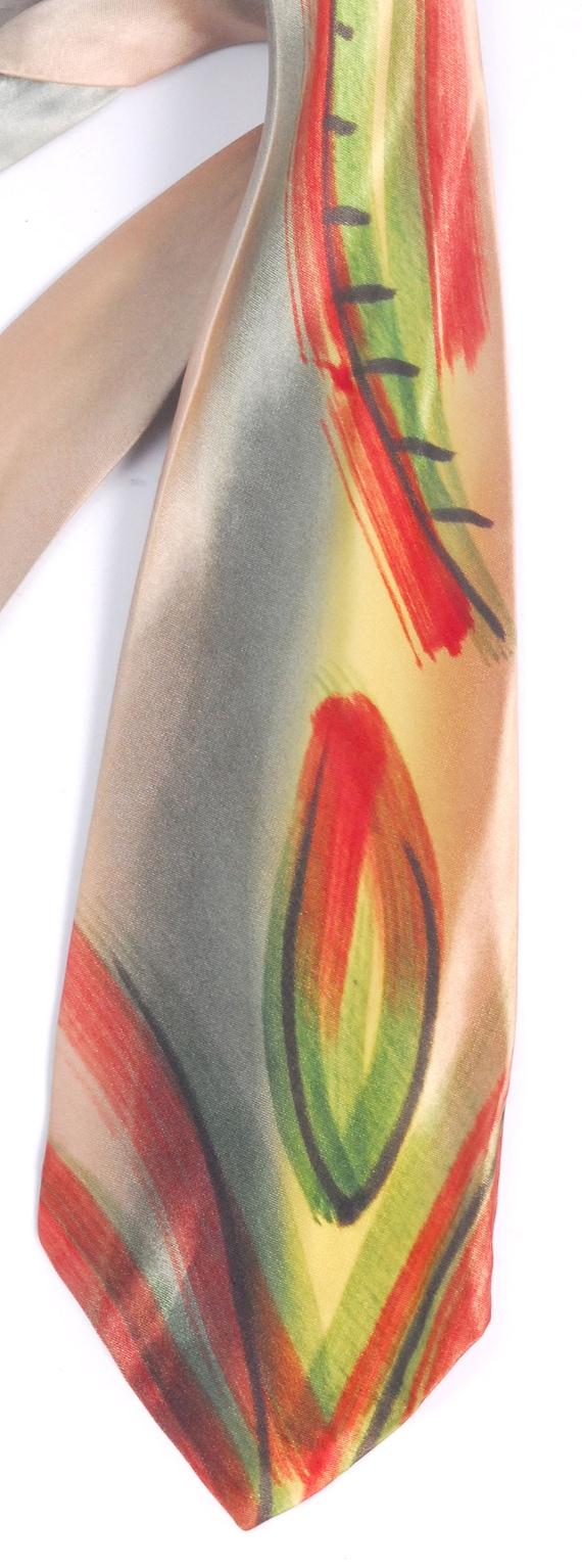 Vintage 40s Tie - 40s Necktie - 40s Cravat - Wide… - image 2