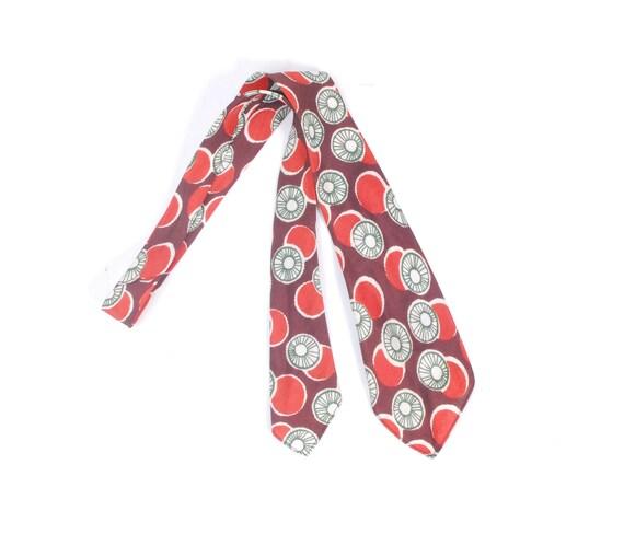Vintage 40s Tie - 40s Wide Tie - 40s Art Deco Tie