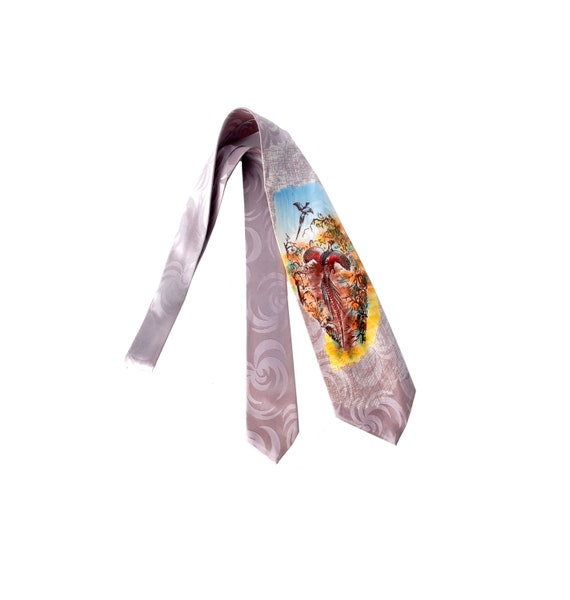 Vintage 40s Tie - 40s Necktie - 40s Cravat - Wide… - image 1