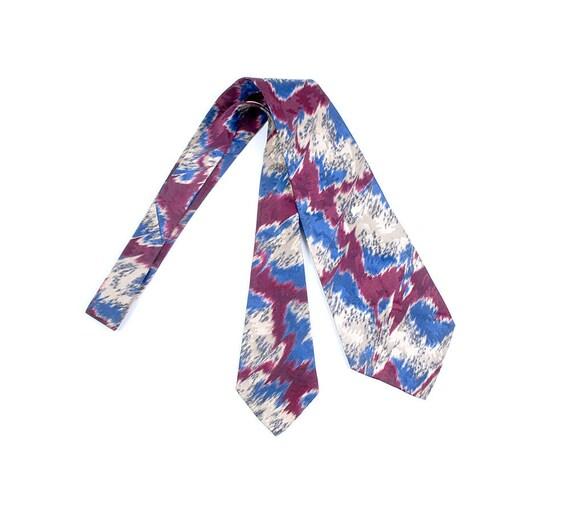 Vintage Teens Necktie - Vintage Teens Cravat - Vin