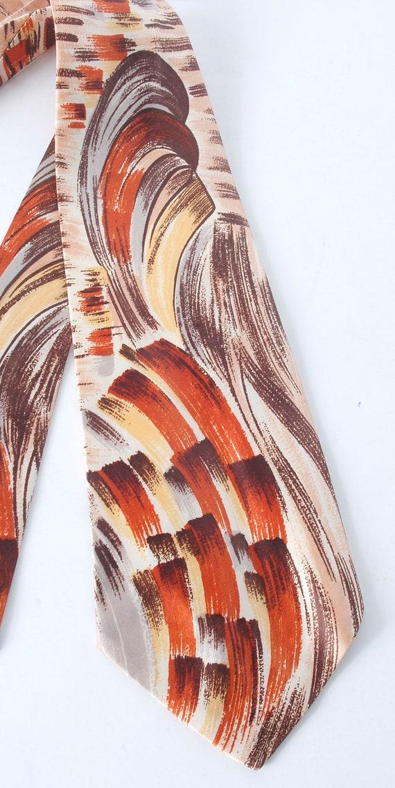 Vintage 40s Necktie - 40s Tie - 40s Cravat - Wide… - image 2