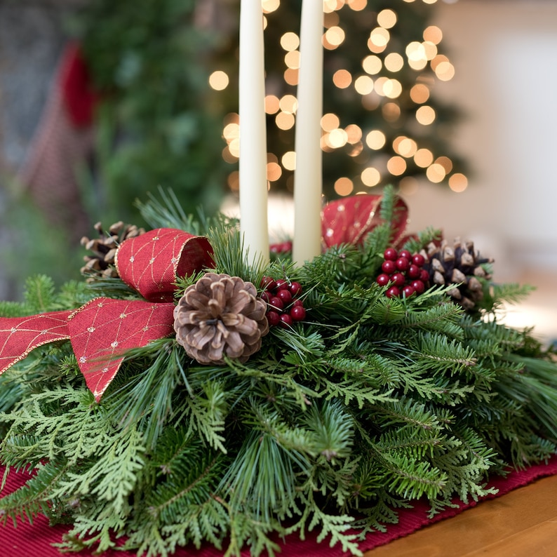 Strange Christmas Table Centerpiece Fresh Evergreens Christmas Gift Holiday Centerpiece Christmas Table Decor Winter Greenery Balsam Download Free Architecture Designs Grimeyleaguecom