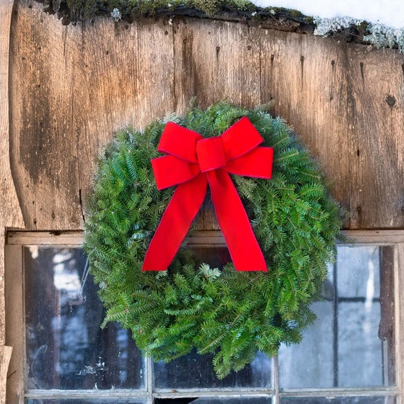 Christmas Reef.Simple Fresh Wreath Window Wreaths Holiday Gifts Employees Maine Wreath Christmas Reef Live Wreath Front Door Wreath