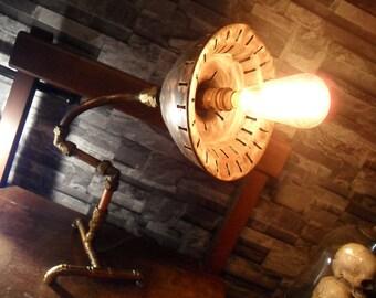 Brass & Copper Posser Lamp.