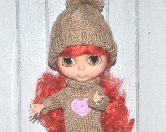 Blythe - knitting Cap - Bobble Cap - Cap