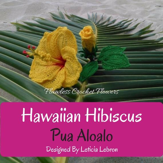 Hibiscus Crochet Flower, Crochet Hibiscus, Hawaiian Hibiscus ...