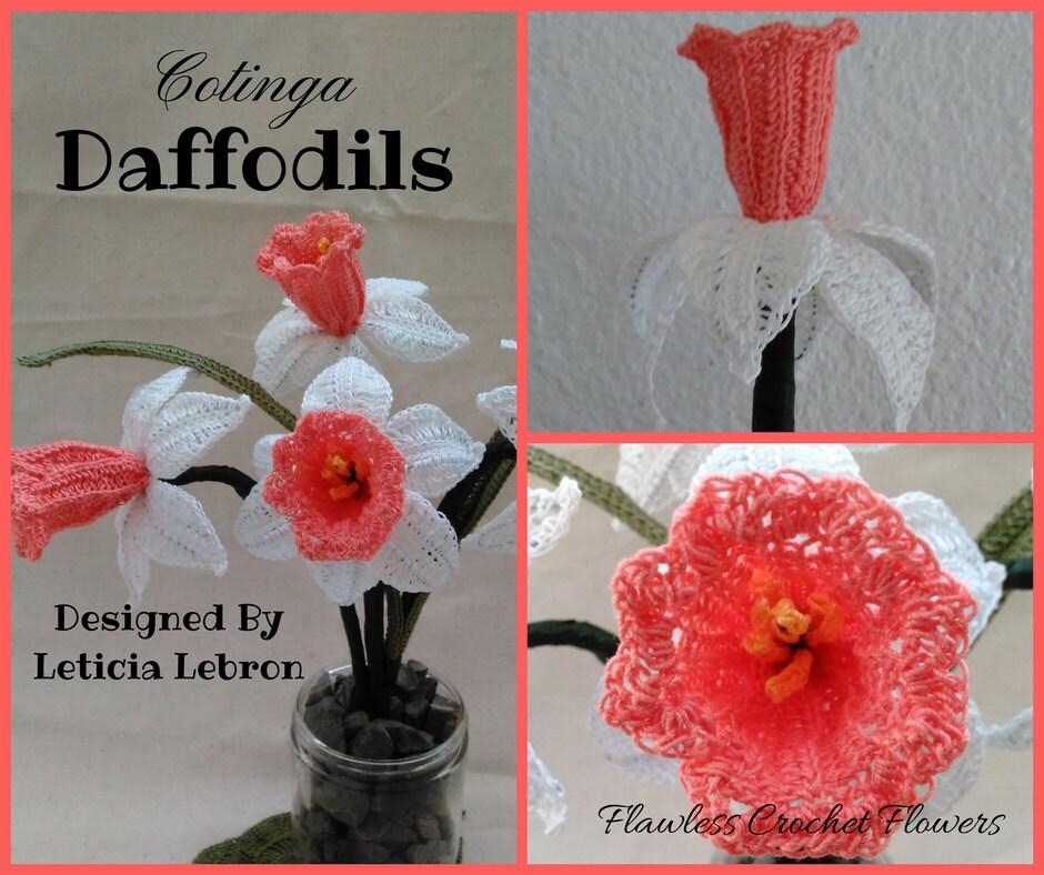 Crochet Daffodil Flower Pattern Narcissus Flower Crochet Etsy