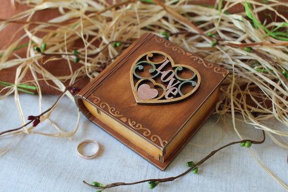Ringtrager Buch Kastchen Aus Holz Schmuck Kastchen Ehering Etsy