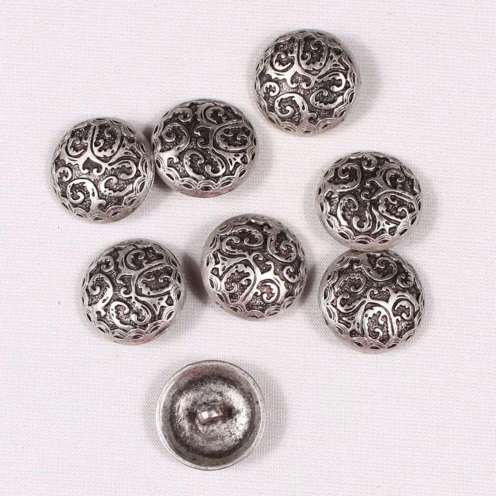 6 x 18 mm Argent Grande balle ronde métal Tige Boutons-EM669