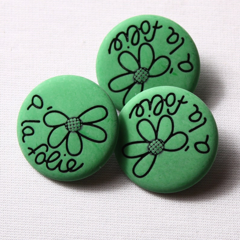 nylon red 31mm green 6791 madness Buttons Rod