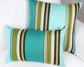 Adour cushion turquoise
