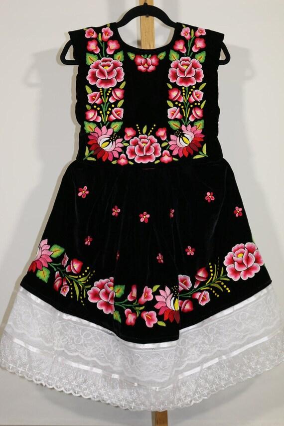 010b5f236 Envío GRATIS Vestido de tehuanita  vestido mexicano niñas