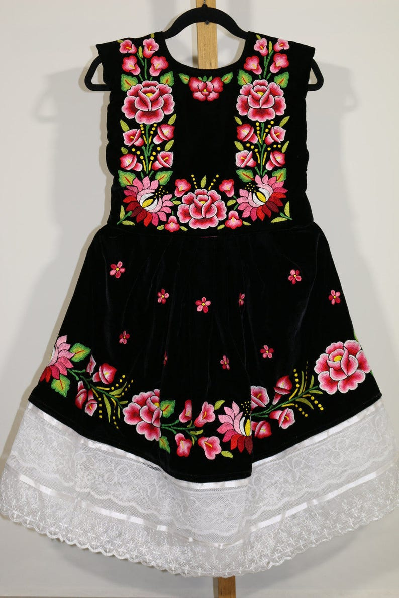 d8bec7e69b Envío GRATIS Vestido de tehuanita  vestido mexicano niñas