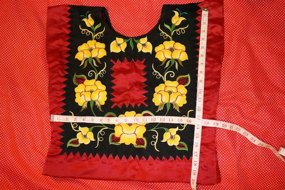 Hecho en Mexico pintora mexicana Blusa Mexicana de Tehuana 2 modelos Estilo Frieda Tehuana costume blouse with handemboridery flowers