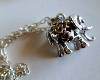 Elephant-elephant necklace-children's jewellery, small elephant-gift for big or small-two-sided portable-retro-vintage-Jewelry