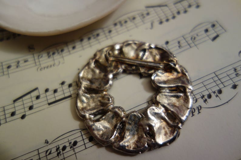 Costume Jewellery beautiful old silver Brosche-vintage Jewellery-something TO the wedding Retro-costume jewellery ALTES Trachtenbrooch