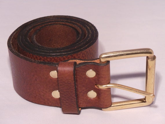 "1/"" W HAND MADE 3MM THICK REAL LEATHER MEN WOMEN BELT SOLID BRASS ROLLER BUCKLE"