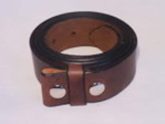 Western Eagle head Top Grain leather Belt,Roller buckle,w//Snaps for Interchangeable Buckles,Made in USA