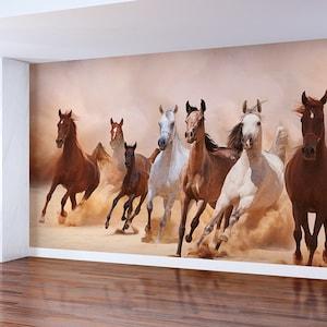 Running Horses Wall Decal Animals Vinyl Sticker Western Home Decor Ideas Kids Room Interior Wall Art 1 nsix
