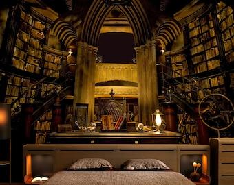 Hogwarts Library Etsy