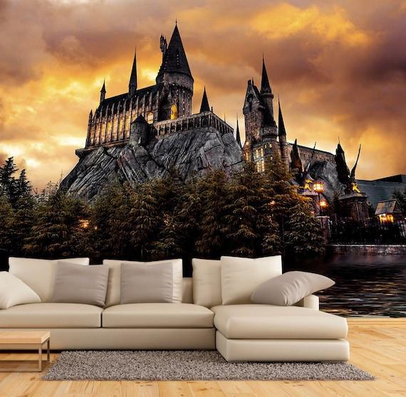 Huge 3D Window view Hogwarts Express Harry Potter Wall Sticker Mural Decal 128