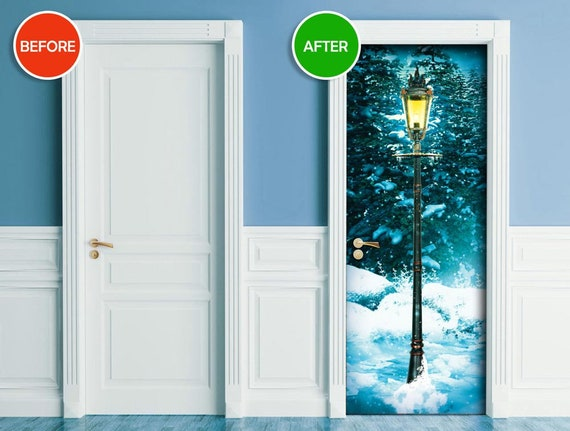 Kühlschrank Befestigung Tür : Aufkleber für tür wand kühlschrank narnia lampe post etsy