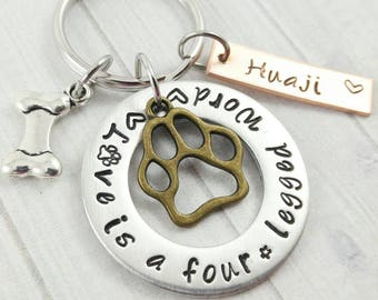 Custom Dog Or Pet Keychain Custom Dog Tag Dog Lover Puppy Gift Pet Lover Gifts
