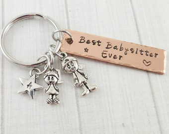 Baby Sitter Thank You Gifts Gift For Babysitter Best Babysitter Baby Sitter Keychain Baby Sitters Club
