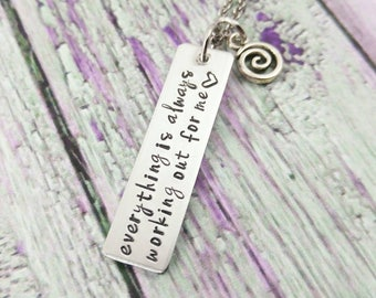 Positive Thinking Inspirational Quotes Necklace Positive Recovery Jewelry Confidence Gifts