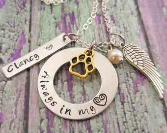Silver Dog Memorial Jewelry Necklace Pet Loss Necklace Loss Of Pet Loss Of Dog Loss of a dog