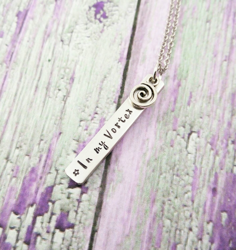 Positive Jewelry  Positive Quotes Necklace  Abraham Hicks  image 0