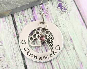Dog Memorial Jewelry Pet Memorial Necklace Dog Remembrance Pet Loss Jewelry
