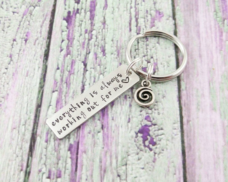 Positive Quote Keychain  Positive Thinking  Positive image 0