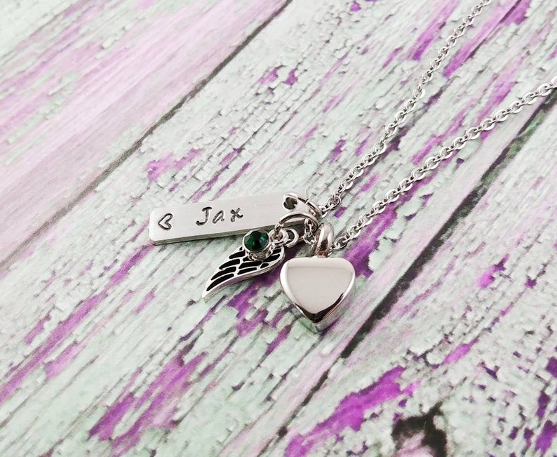Heart Urn Necklace Stillborn Baby Memorial Cremation Jewelry Cremation Necklace Urn Necklace