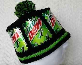 3fe791c90d1 Mountain Dew Handmade Crochet Soda Can Hat