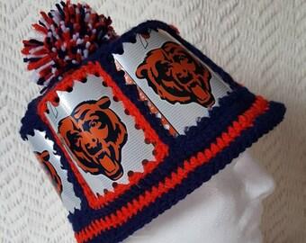 4a3ea6c98f9 CUBS Budweiser Handmade Crochet Beer Can Visor
