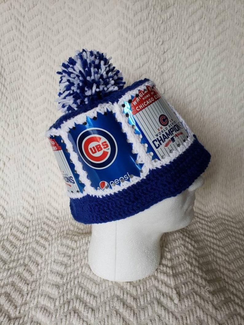fee29c8dd8b CUBS Handmade Crochet Pepsi Can Hat