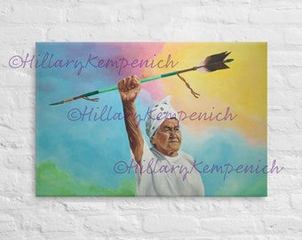 Nookimisjichaag odishiwed (Grandmother visits the people) by Hillary Kempenich - Giclee Reproduction