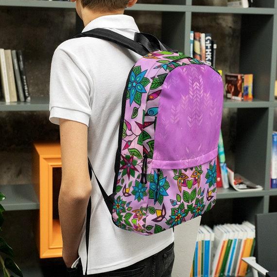 Green Ojibwe Floral Backpack
