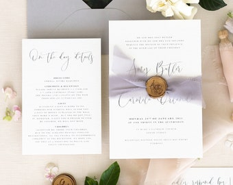Wedding Invitation Lacina Vellum Wedding Invitation Set Vellum Wedding Invitations Envelopes Wax Seals Printed Wedding Invitations