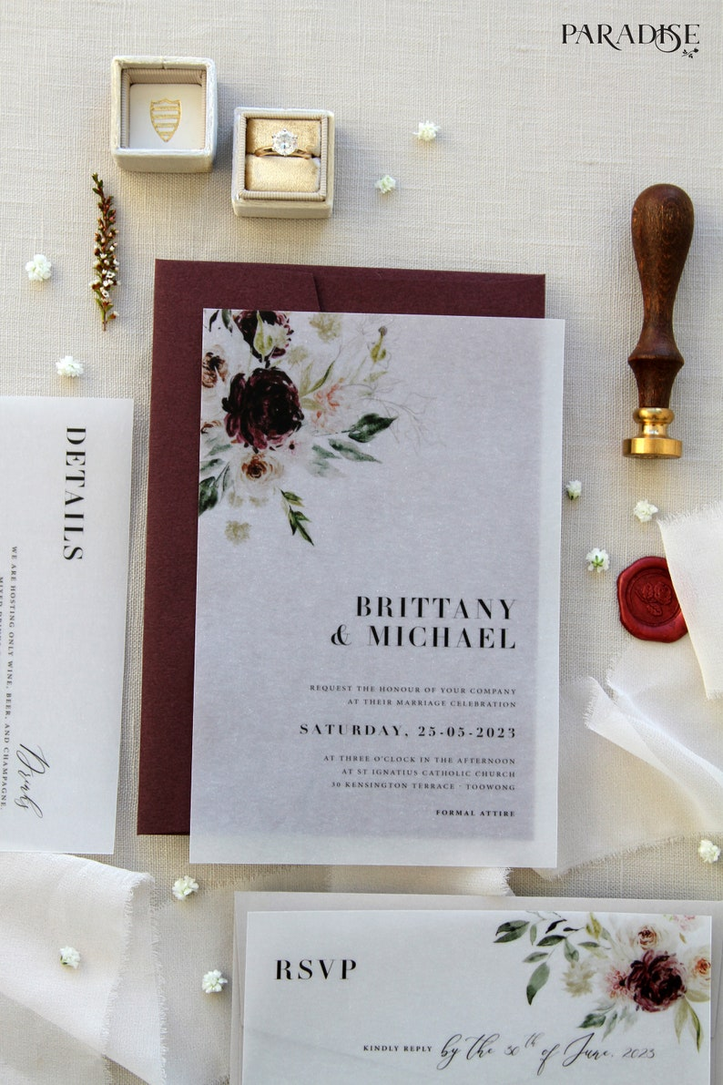 Scrap Booking Pen Palling Floral Summer Vintage Style C6 Sized Envelopes Wedding Invitation Snail Mail