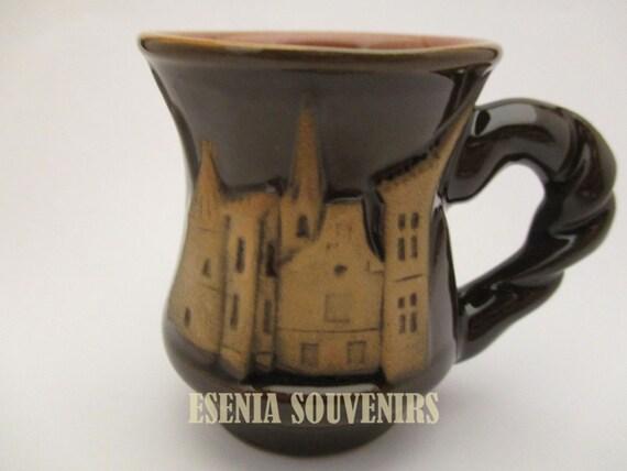 Ceramic Latvia Decorative Cup Konaks Handmade Excellent Work Signed Souvenir 005
